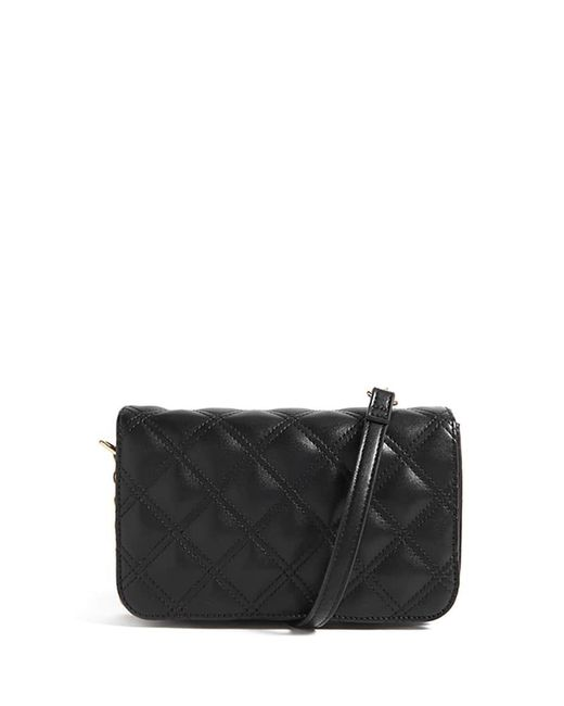 Forever 21 | Black Quilted Faux Leather Crossbody Bag | Lyst