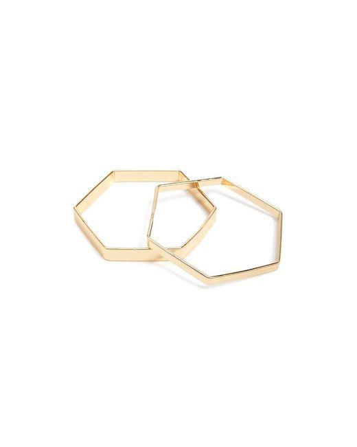 Forever 21 - Metallic Hexagon Bangle Bracelet Set - Lyst
