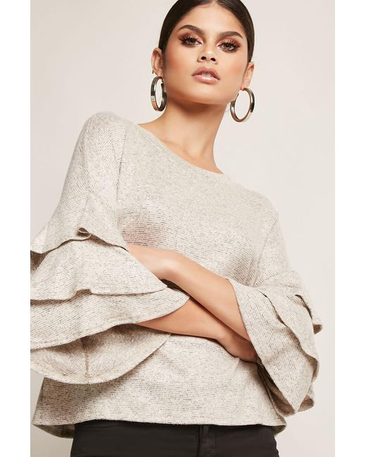 Lyst Forever 21 Tiered Heathered Knit Top