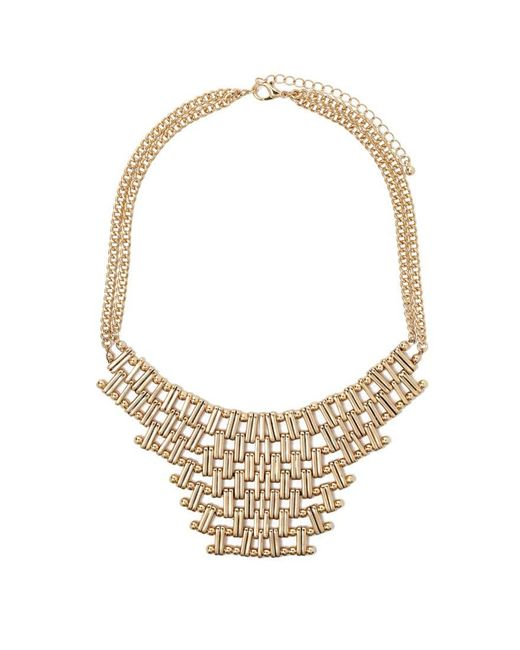 Forever 21   Metallic Chain Link Statement Necklace   Lyst