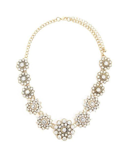 Forever 21 - Metallic Clustered Rhinestones Statement Necklace - Lyst