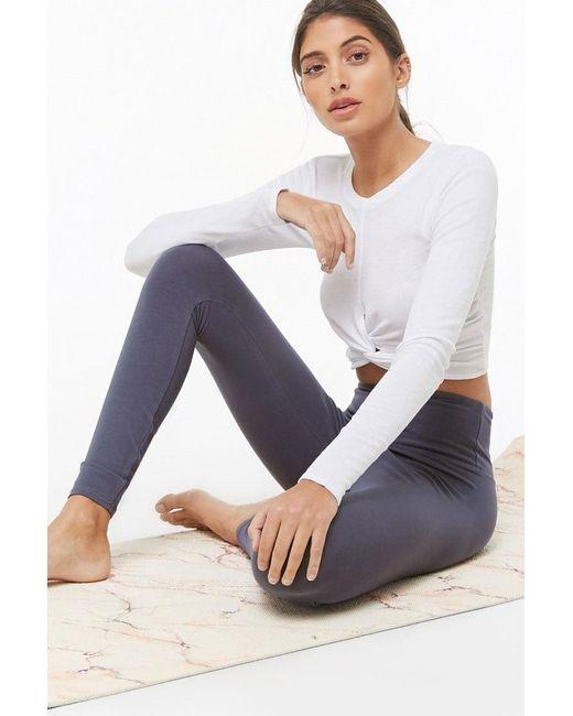Forever 21 Blue Women's Active Knit Leggings