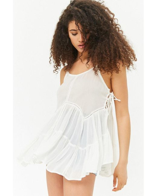 Forever 21 - Multicolor Sheer Lace-up Sides Cami - Lyst