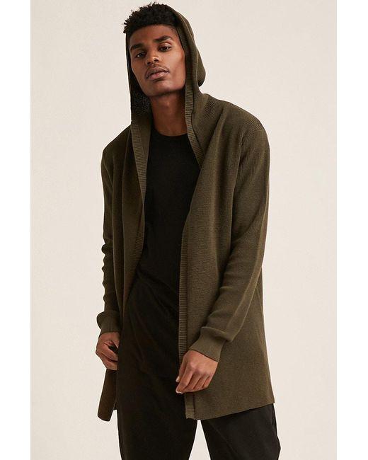 e81616fb7 Men's Green 's Hooded Knit Cardigan Jumper