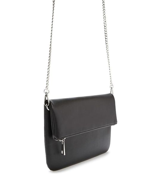 Forever 21 - Black Faux Leather Clutch Bag - Lyst