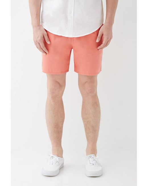 Forever 21 - Pink Cotton Twill Drawstring Shorts for Men - Lyst