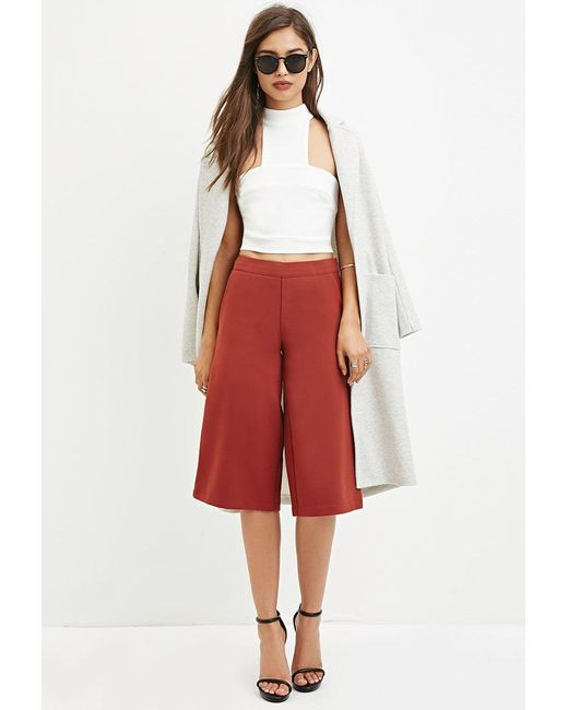 Forever 21   Brown Classic Culottes   Lyst