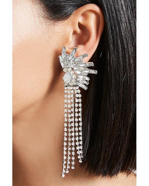 Forever 21 | Metallic Cluster Fringe Duster Earrings | Lyst
