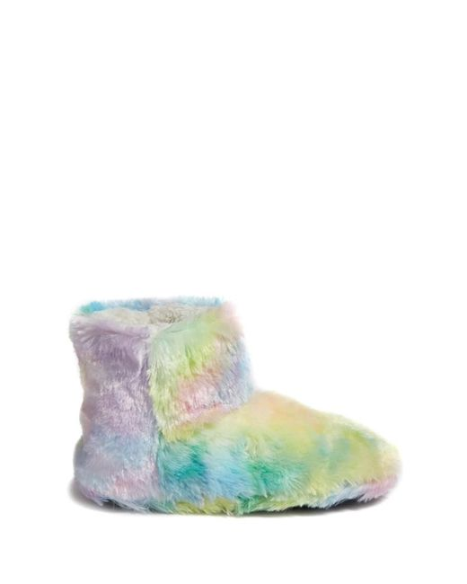 Forever 21 | Blue Fuzzy Rainbow Indoor Slippers | Lyst