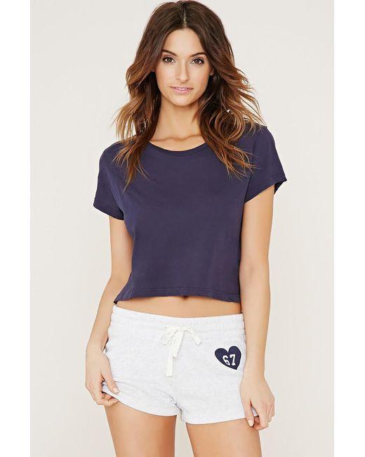 Forever 21 | Blue 67 Graphic Pyjamas Shorts | Lyst