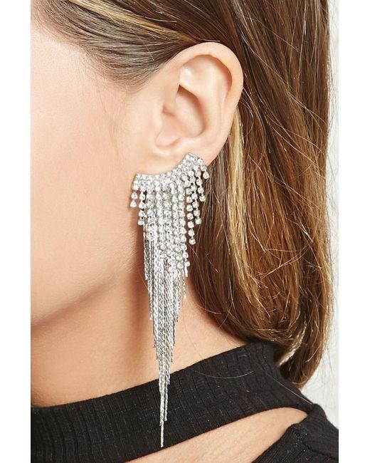 Forever 21 | Metallic Drop Ear Crawler Earrings | Lyst