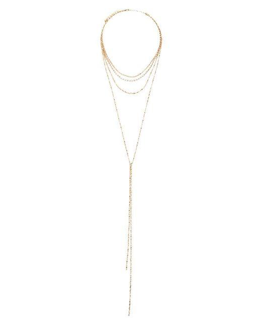 Forever 21 - Metallic Women's Layered Rhinestone Necklace - Lyst