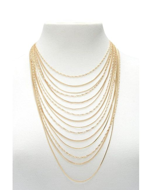 Forever 21 | Metallic Curb Chain Layered Necklace | Lyst