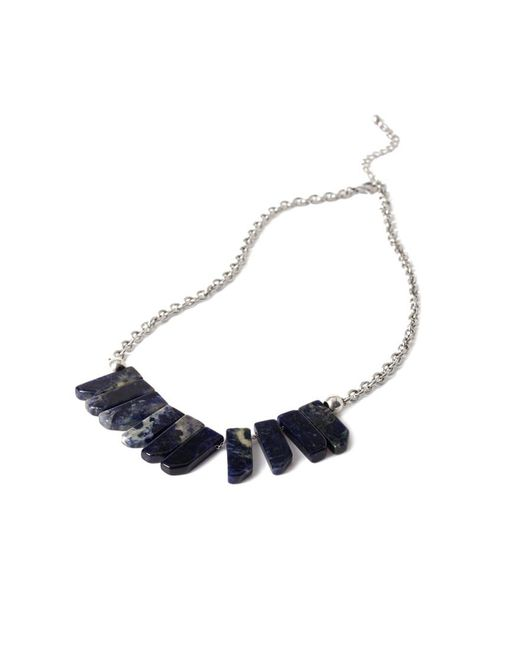 FOREVER21 - Metallic Faux Stone Statement Necklace - Lyst