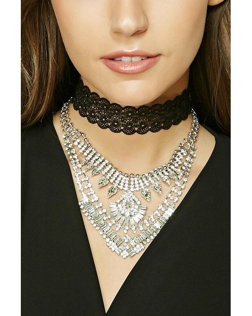 Forever 21 | Metallic Statement Necklace Set | Lyst