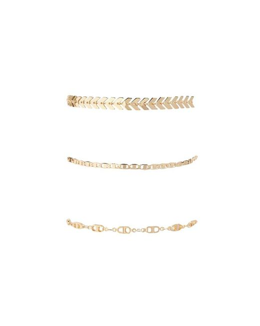 Forever 21 - Metallic Laurel Leaf Chain Bracelet Set - Lyst