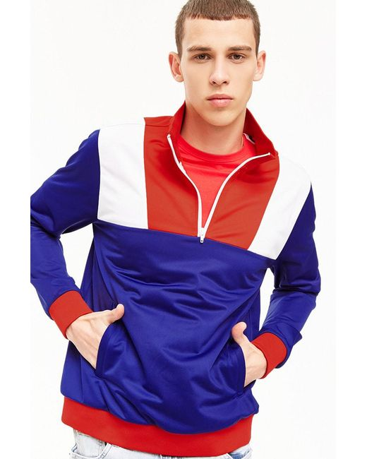 Forever 21 - Blue 's Colorblocked Track Jacket for Men - Lyst