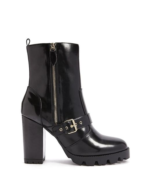 Forever 21 - Black Women's Faux Leather Ankle Boots - Lyst