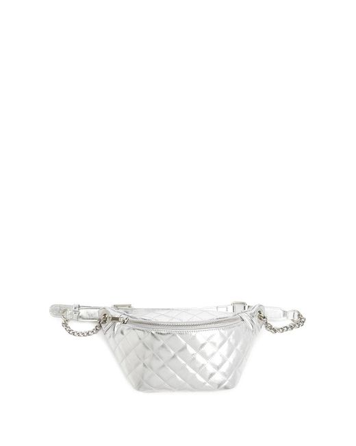 Forever 21 - Metallic Quilted Belt Bag - Lyst