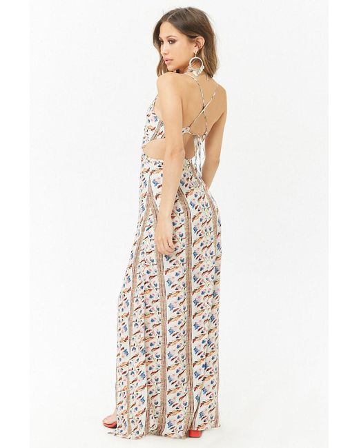 Forever 21 - White Cutout Ornate Maxi Dress - Lyst