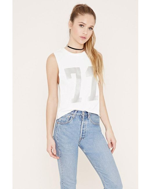 Forever 21 | Natural Graphic Pullover | Lyst
