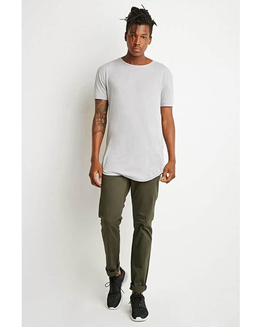 Forever 21 | Green Classic Twill Pants | Lyst