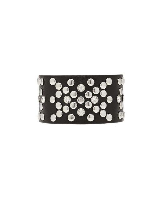 Forever 21 | Black Studded Faux Leather Bracelet | Lyst