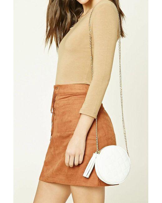 Forever 21 | White Quilted Tasseled Crossbody Bag | Lyst