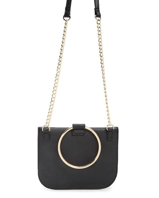 Forever 21 Faux Leather Crossbody , Black