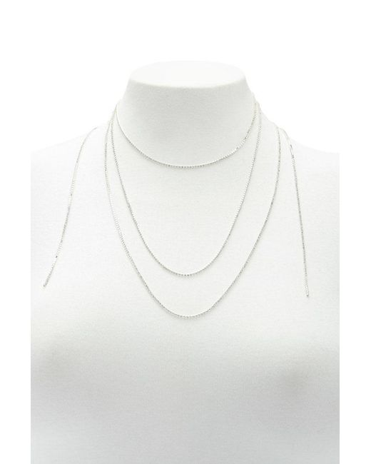 Forever 21 - Metallic Box Chain Wrap Necklace - Lyst