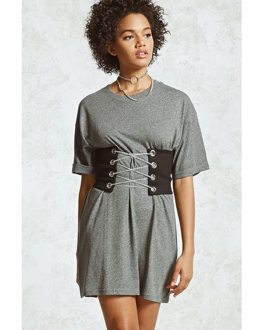 Forever 21   Gray Heathered T-shirt Dress   Lyst