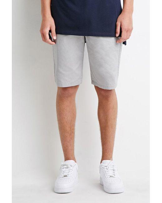 Forever 21   Gray Zip-pocket Drawstring Shorts for Men   Lyst