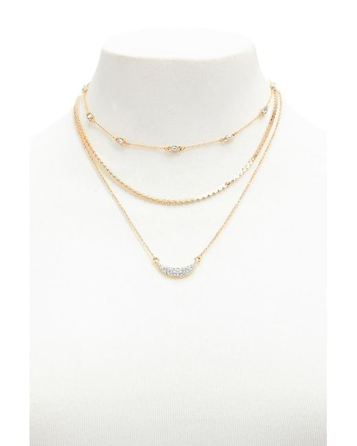 Forever 21   Metallic Layered Pendant Necklace Set   Lyst