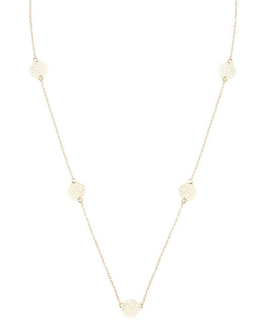 Forever 21 | Metallic Filigree Charm Longline Necklace | Lyst