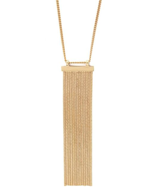 Forever 21 | Metallic Herringbone Chain Fringed Necklace | Lyst