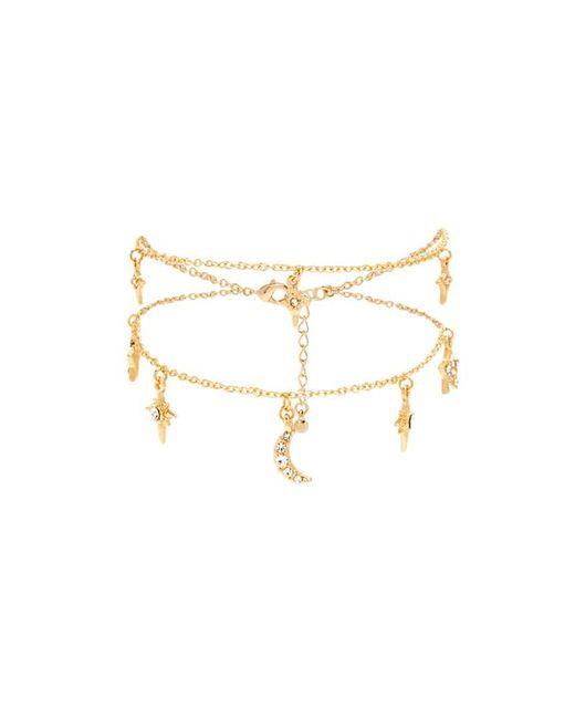Forever 21 | Metallic Star & Moon Charm Bracelet | Lyst