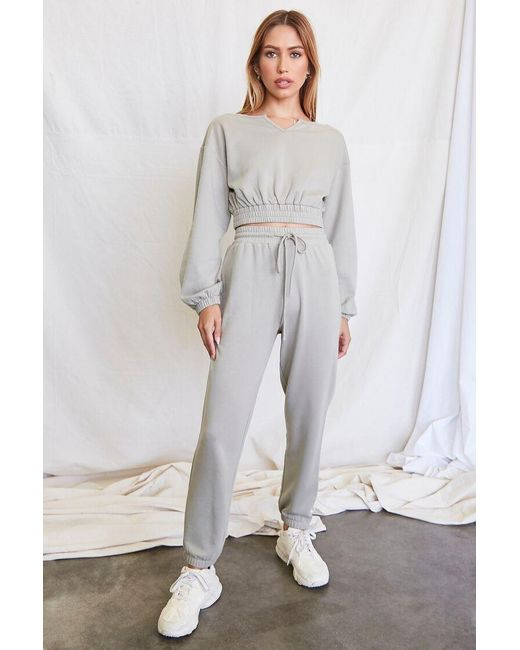 Forever 21 Gray French Terry Pullover & Joggers Set