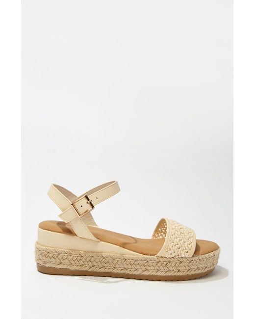 8486cd32542 Women's White Faux Leather & Straw Espadrille Wedges , Ivory