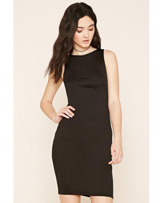 Forever 21 | Black Bodycon Midi Dress | Lyst