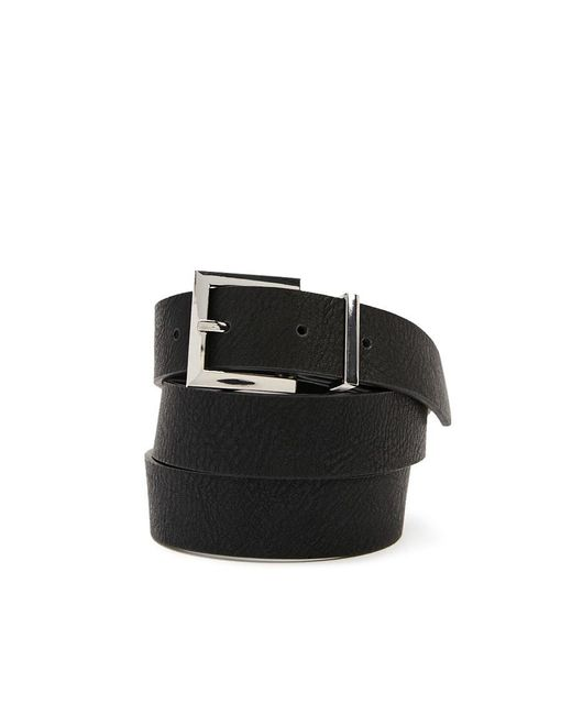 Forever 21 - Black Textured Faux Leather Hip Belt - Lyst