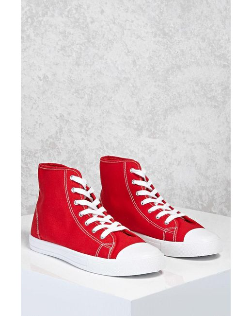 Forever 21 - Red High-top Sneakers - Lyst
