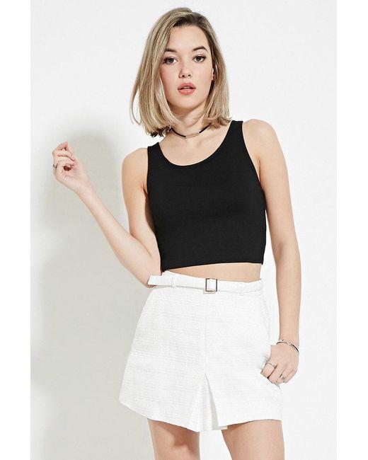 Forever 21 Natural Women's Textured Pleat Mini Skirt