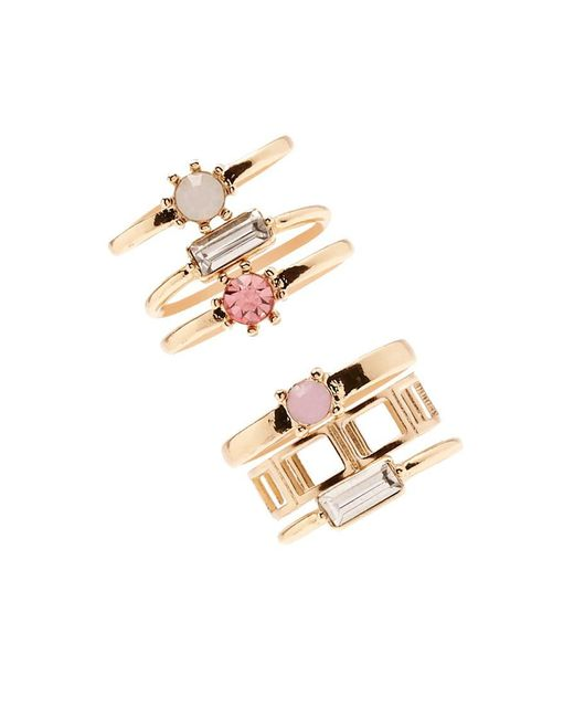 Forever 21 | Metallic Faux Crystal Ring Set | Lyst
