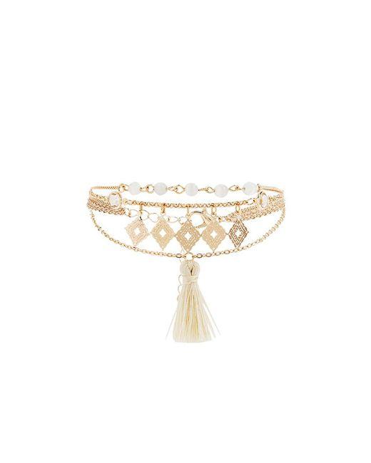 Forever 21 - Metallic Tassel Charm Chain Bracelet - Lyst