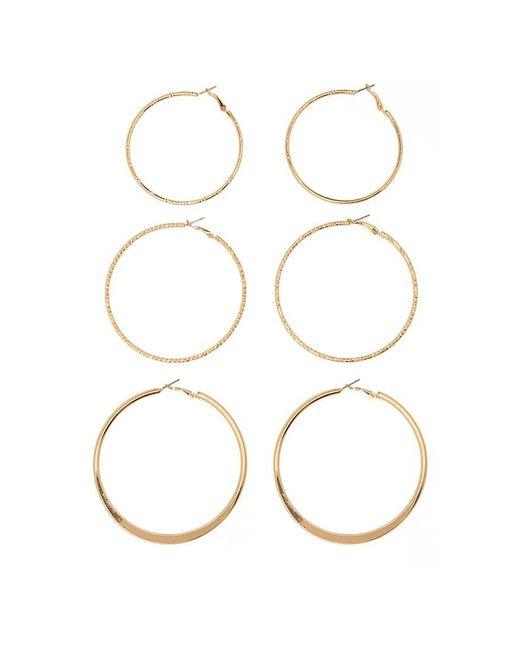 Forever 21   Metallic Oversized Hoop Earring Set   Lyst