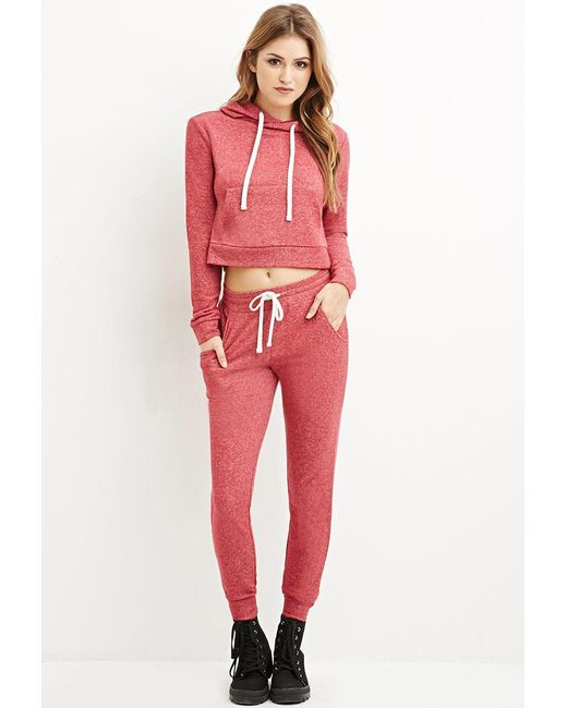 Forever 21   Red Classic Marled Joggers   Lyst