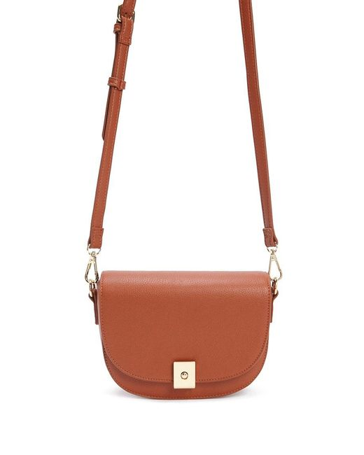 Forever 21 - Brown Faux Leather Half-moon Crossbody - Lyst