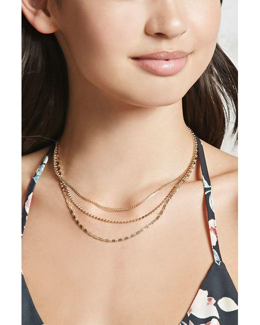 Forever 21 | Metallic Chain Necklace Set | Lyst