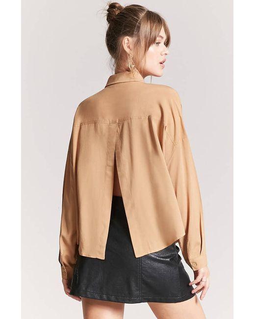 Forever 21 - Multicolor Basic Woven Tulip-back Shirt - Lyst