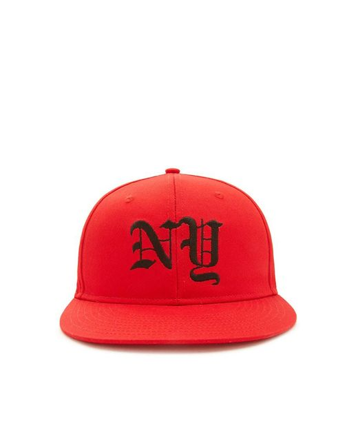 Forever 21 | Red Men Ny Snapback Hat for Men | Lyst